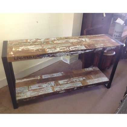 K42-DS007963 indian furniture console table industrial white