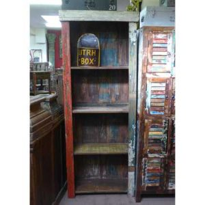 K55-861 indian furniture bookcase rustic recycled