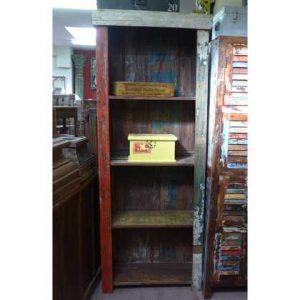 K55-861 indian furniture bookcase rustic tall