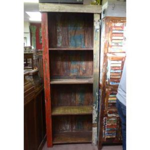 K55-861 indian furniture bookcase rustic distressed