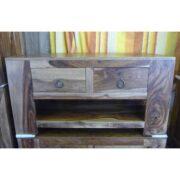 K56-ndt021 indian furniture tv unit sheesham drawers interesting grain