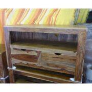 K56-zen560 indian furniture tv unit-sheesham drawers eye catching
