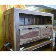 K56-zen560 indian furniture tv unit sheesham drawers grain