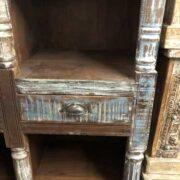 K73 3730 indian furniture bookcase unusual 8 hole 3 inside