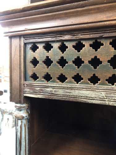 K73 3730 indian furniture bookcase unusual 8 hole 3 close