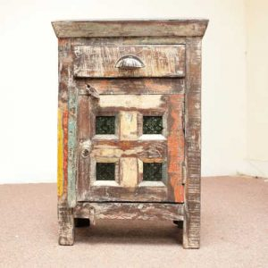 KH4055 indian furniture bedside old unusual