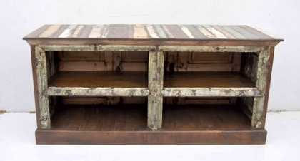 KH6-PIC-01 Indian Furniture TV Unit Reclaimed