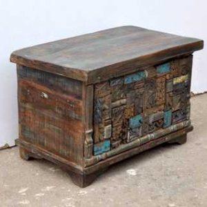 KH6-PIC-14 Indian Furniture Trunk Unusual Corner