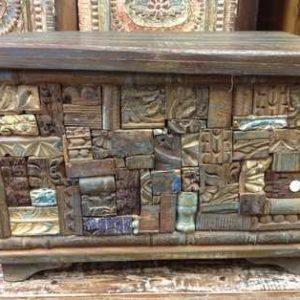 KH6-PIC-14 Indian Furniture Trunk Unusual Reclaimed