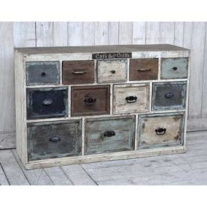 KH9-M-8133 Indian Furniture Sideboard Shabby Chic (size-134x40x86)