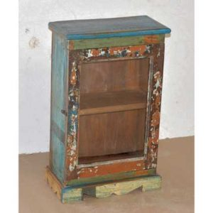 KH9-Rs-024-c Indian Furniture Cabinet Blue