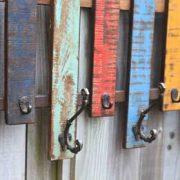 KH9-Rs-058 indian furniture fence rail hook coat - close