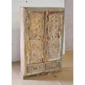 KH9-Rs-066 Indian Furniture Cabinet Carved Panels