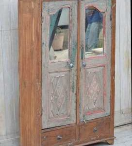 Old Teak Cabinet with Mirrors KR-73