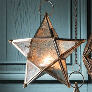 hanging star candle lantern LT68-set