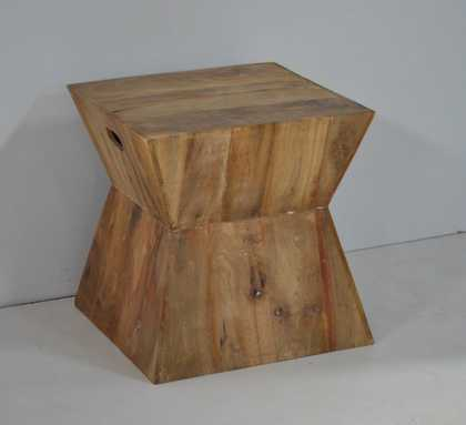 distressed hourglasses side table M-4397