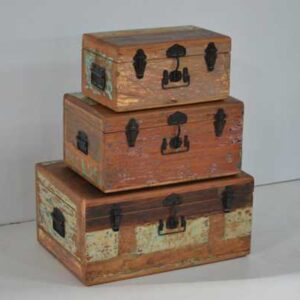 reclaimed recycled wood trunks M-4441