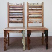 dsc02474 indian furniture dining chair shutter reclaimed recycled