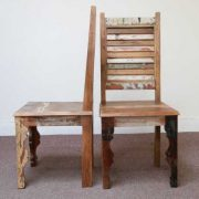 dsc02474 indian furniture dining chair shutter reclaimed profile