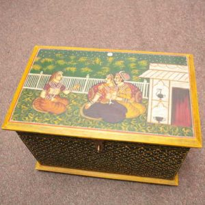 handpainted artwork indian furniture handpainted box img1683-2