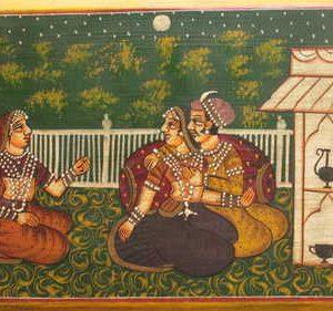 detail indian furniture handpainted box-img1683-4