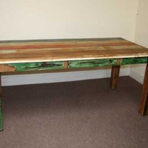 k45-rd180 indian furniture dining table reclaimed legs