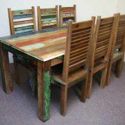 k45-rd180+dsc02474(6)-3 indian furniture dining set reclaimed wood green
