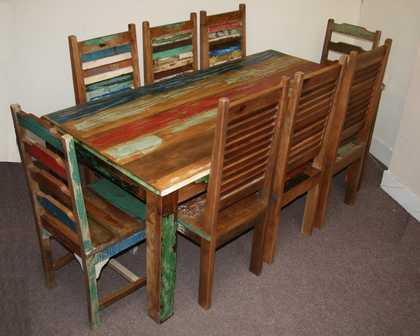 k45-rd180+dsc02474(8) indian furniture dining set reclaimed eight
