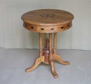 k46-dsc0456 indian furniture side table unusual inlay