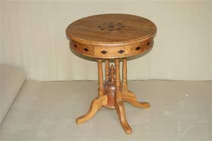 k46-dsc0456 indian furniture side table unusual round