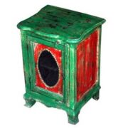 k46-dsc0504 indian furniture bedside unusual handpainted front