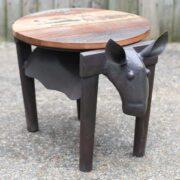 K49 Dsc00576 Indian Furniture Unusual Table Cow Stern ...