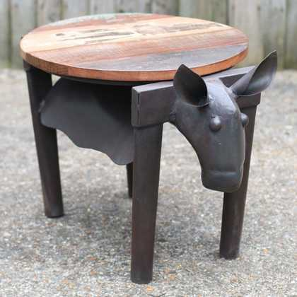 Cow stool table jugs indian furniture and accessories hove for Furniture hove