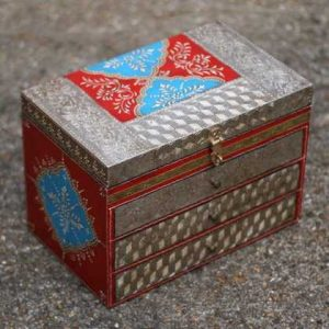 k49-img_4755 indian gift hand painted drawers jewellery red blue