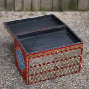 k49-img_4755 indian gift hand painted drawers jewellery open wide