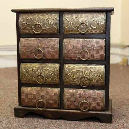 k51-579 indian furniture chest drawers jewelry unusual drawers