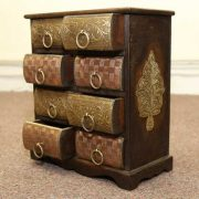 k51-579 indian furniture chest drawers jewelry unusual woah crazy