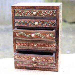 k51-584 indian accessories handpainted open