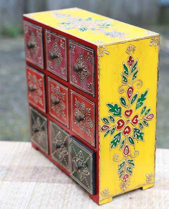 k51-IMG_4743 indian accessories handpainted yellow green