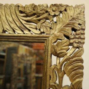 k51-IMG_8355 indian furniture mirror carved corner detail