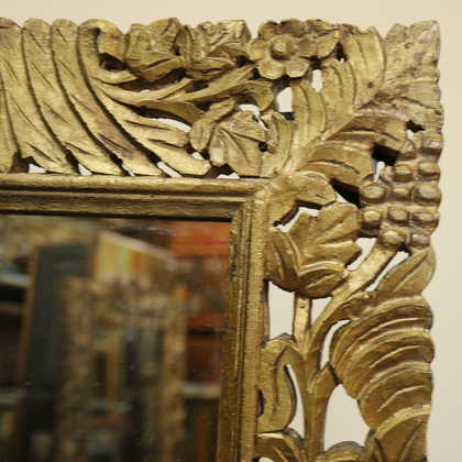 k51-IMG_8355 indian furniture mirror carved corner detail