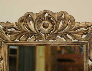 k51-IMG_8356 indian furniture mirror carved daisy