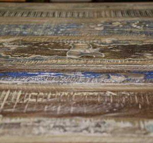 k51-MS-1008 indian furniture coffee table whitewash hardwood