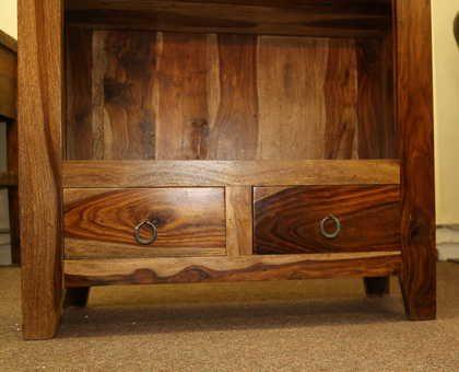 k52-R3979 indian furniture bookcase sheesham modern finish