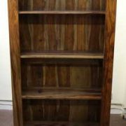 k52-R3979 indian furniture bookcase sheesham front view