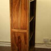 k52-R3979 indian furniture bookcase sheesham side finish