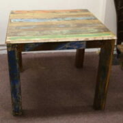 k52-rd-100 indian furniture dining table painted reclaimed sturdy
