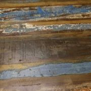 k52-rd-80 indian furniture dining table painted reclaimed blue stripe
