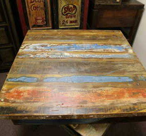 k52-rd-80 indian furniture dining table painted reclaimed upcycled