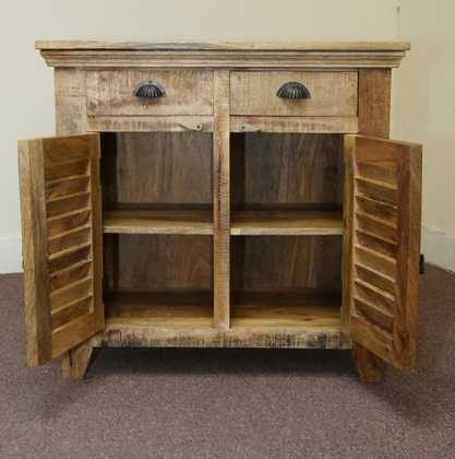 k53-563 indian furniture small sideboard mango open cupboards
